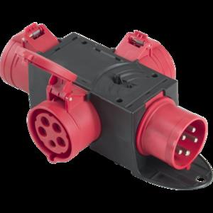 PBQ3265 - Box per la distribuzione elettrica, ingresso spina 5p 32A