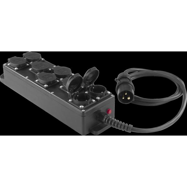 PBB1687 - Box per la distribuzione elettrica, ingresso spina 3p 16A
