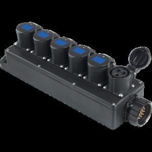 PBB1610 - Box per la distribuzione elettrica, ingresso spina 19p 16A
