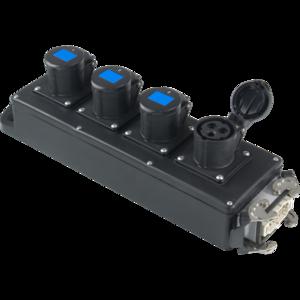 PBB1632 - Box per la distribuzione elettrica, ingresso spina 10p 16A