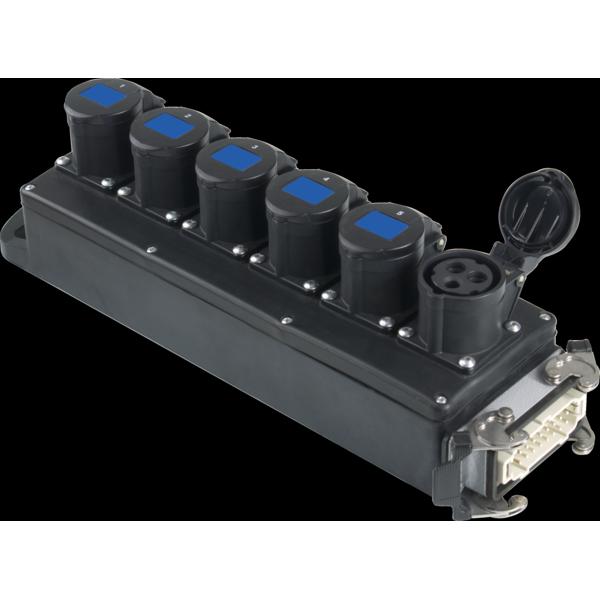 PBB1621 - Box per la distribuzione elettrica, ingresso spina 16p 16A