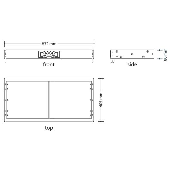 HDA803FB - Sistema di sospensione compatto per line-array DAD HDA800