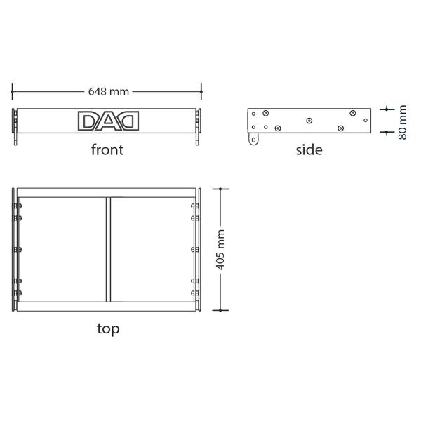 HDA503FB - Sistema di sospensione compatto per line-array DAD HDA500