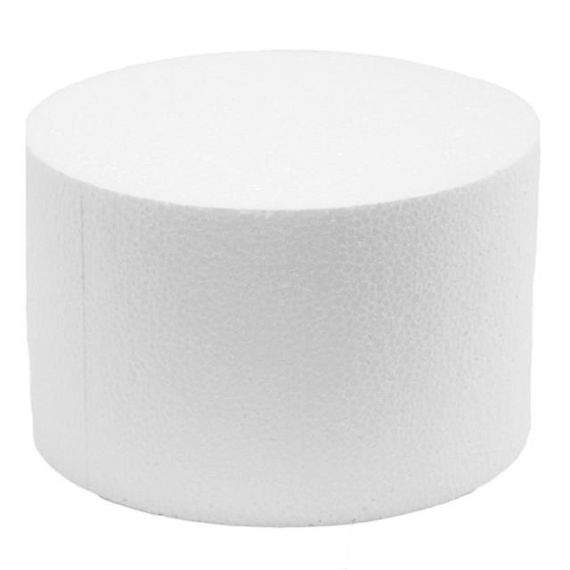 disco polistirolo rotondo alto cm 10, diametro cm 15