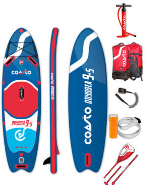 SUP Coasto Odyssea - Stand Up Paddle completo di accessori -  290 x 81 x 12 cm