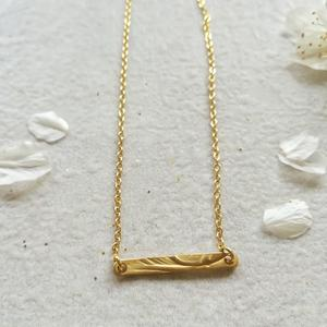 COLLANA IN GOLD FILLED CON BARRETTA SATINATA