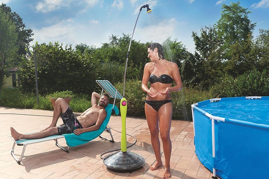 Doccia solare SUNNY STYLE da giardino x avere acqua calda con rubinetto