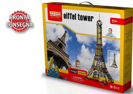 """Costruzioni da 1354 pezzi Mega Structures """"Torre Eiffel"""" di Engino"""