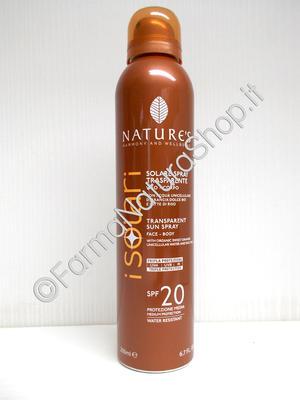 NATURE'S Solare Spray Trasparente SPF 20 Viso - Corpo