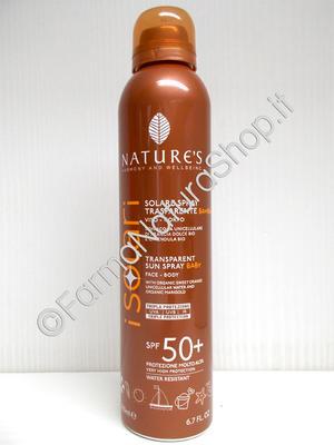 NATURE'S Solare Spray Trasparente BAMBINI SPF 50+ Viso - Corpo