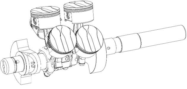 SHAFT for Frascold Semi-Hermetic Reciprocating Compressor