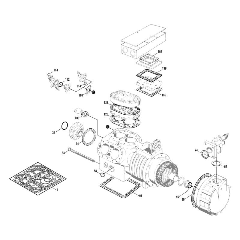 Gasket Kit for Semi Hermetic Bitzer Reciprocating Compressor - 6 Cylynder