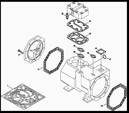 Gasket Kit for Semi Hermetic Bitzer Reciprocating Compressor - 2 Cylinder