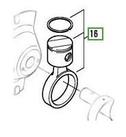 bielle / piston pour Compresseur à Piston Hermétiques-accessibles Bitzer - 2 Cylindres