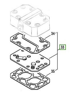 Valve Plate Kit for Semi Hermetic Bitzer Reciprocating Compressor - 2 Cylinder