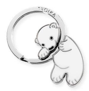"""Portachiavi Troika """"Polar Baby"""" - Orso Polare"""