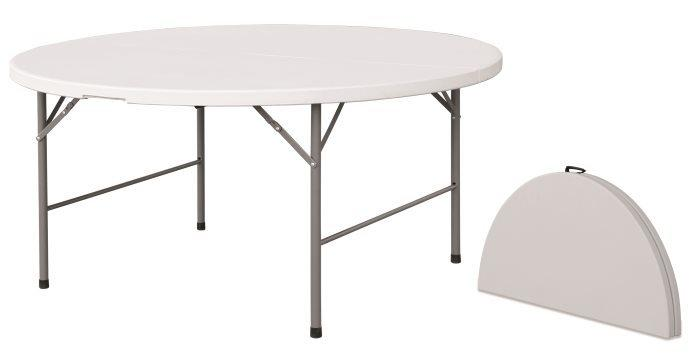 Tavolo Rotondo Pieghevole Giardino.Tavolo Rotondo Pieghevole Per Catering Diam 180 Pieghevole Per