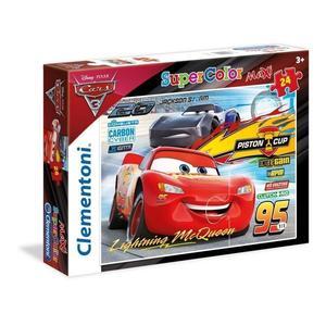 Clementoni 24489 Maxi Puzzle Disney Cars 3  24 Pezzi Mcqueen Piston Cup Jackson Storm