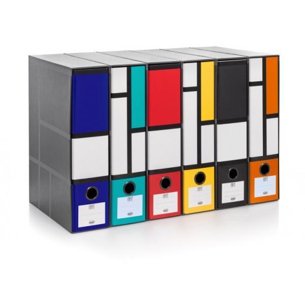 RACCOGLITORE REGISTRATORE GRIGIO MODELLO ART DORSO 8 - BUFFETTI 7805ART80