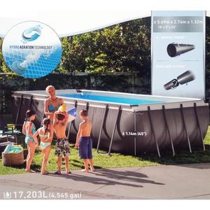 Piscina intex 26356 ULTRA XTR ultraframe rettangolare misura 549 x 274 x 132 cm con pompa sabbia 26356 modello NUOVO EX 28352