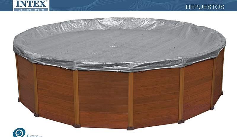 Copri piscina sequoia Intex 11491 copripiscina telo copertura cm 478 INTEX Telo Copertura Deluxe Sequoia 478 Cm - 28382