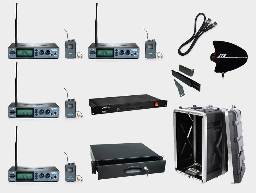 LIVE BUNDLE: 4 in ear monitor JTS
