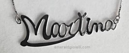 Collana con Nome Martina