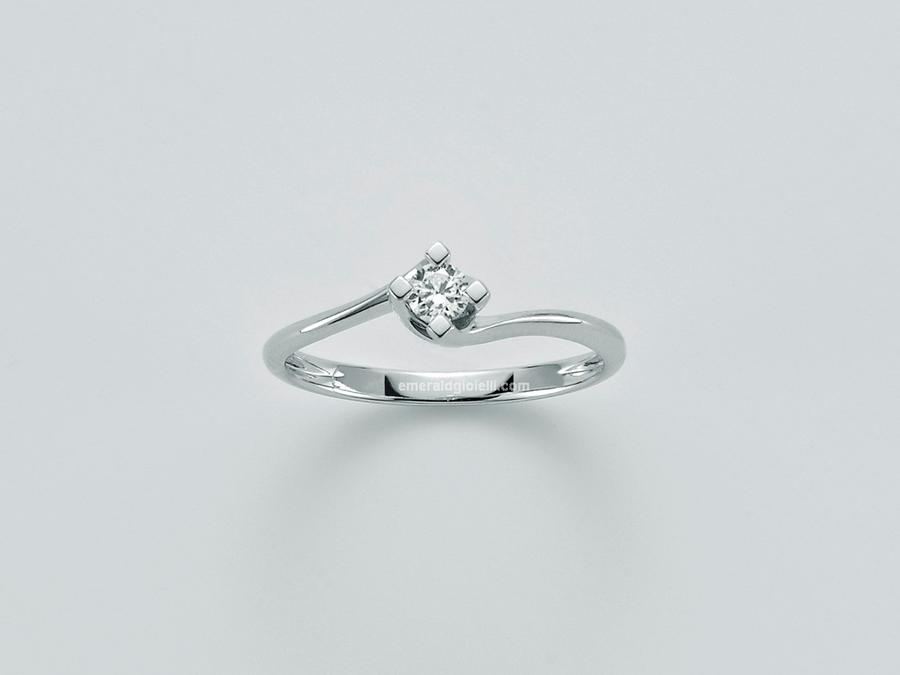 lid5180-005g7 Anello Miluna Solitario con Diamante -