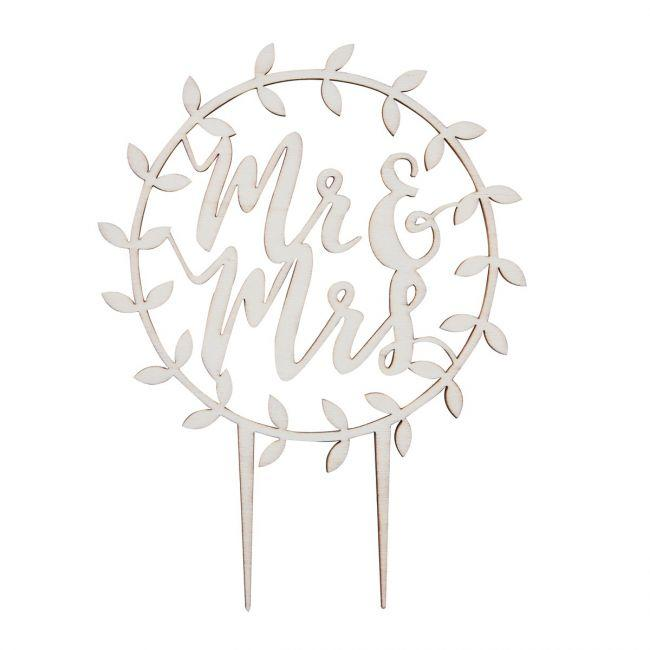 "Copia di Cake topper legno ""Mr & Mrs"""