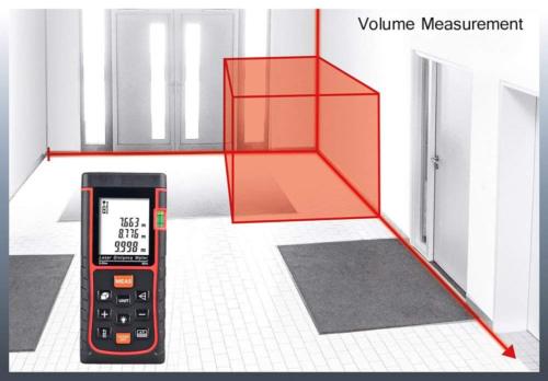Misuratore metro digitale professionale 40 m laser portatile display lcd