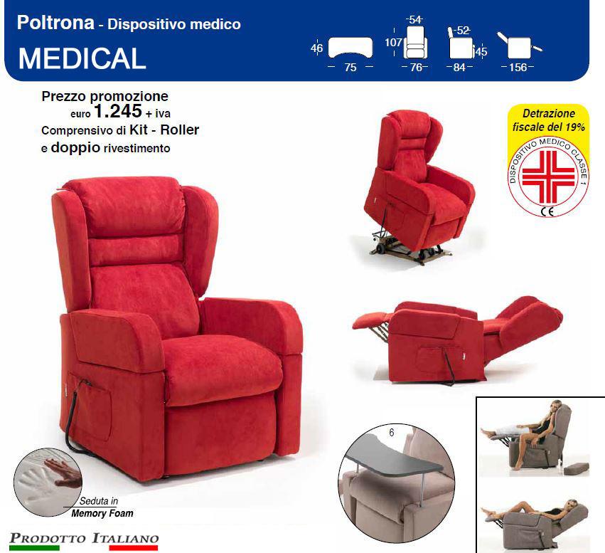 Poltrone relax due motori, poltrona ortopedica per anziani, poltrona ...