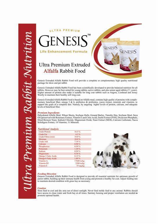 Genesis Alfalfa Rabbit Food - 2,00 kg.
