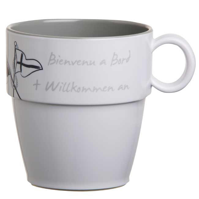 Tazza Mug in Melanina Antiscivolo 6 Pezzi Serie WELCOME ON BOARD di Marine Business - Offerta di Mondo Nautica 24