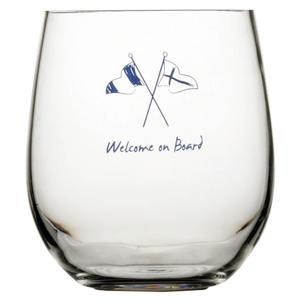 Bicchiere Acqua Antiscivolo 6 Pezzi Serie WELCOME ON BOARD di Marine Business - Offerta di Mondo Nautica 24