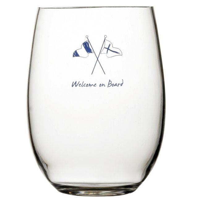 Bicchiere Bibita Antiscivolo 6 Pezzi Serie WELCOME ON BOARD di Marine Business - Offerta di Mondo Nautica 24