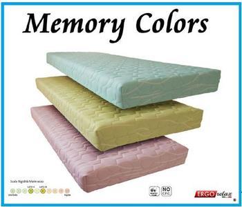 Materasso Memory Mod. Colors Singolo ca Cm 80/190/195/200 Anallergico Sfoderabile Colore a Scelta - Ergorelax