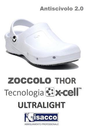 ZOCCOLO THOR ULTRALEGGERO TECNOLOGIA XCELL BIANCO