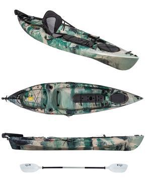 TANCHERO fishing, kayak da 310 cm con timone + seggiolino + pagaia