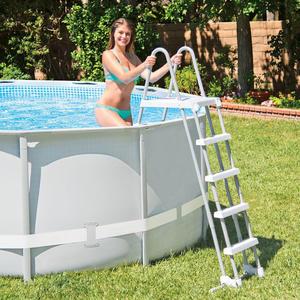 Scala scaletta INTEX 28077 con piattaforma per piscine fuori terra fino a 132 cm con scalini staccabili