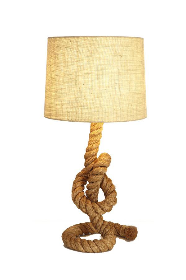 Lampada Marina con  Corda Intrecciata alta 58 cm. di Artesania Esteban - Mondo Nautica 24