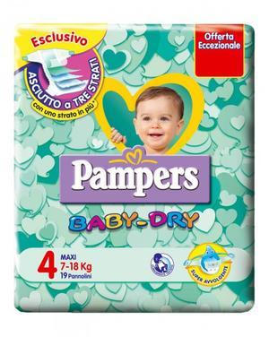 Pampers BABY DRY Taglia 4 (7-18 kg) - 8 confezioni (152 pannolini)
