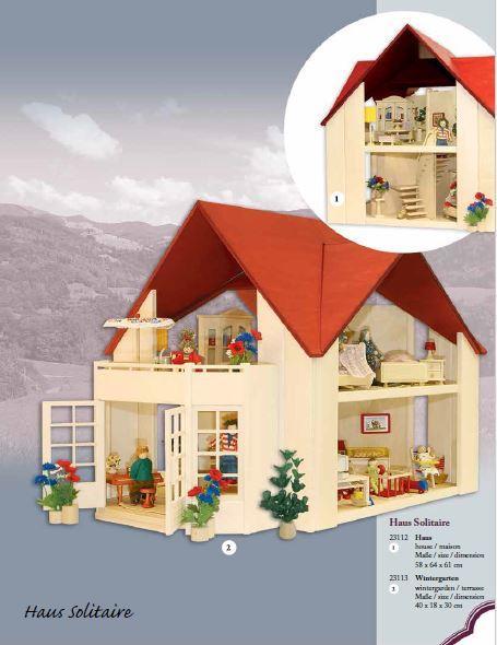 Balcone Giardino D'inverno per Casa delle Bambole Solitaire di Rulke Holzspielzeug