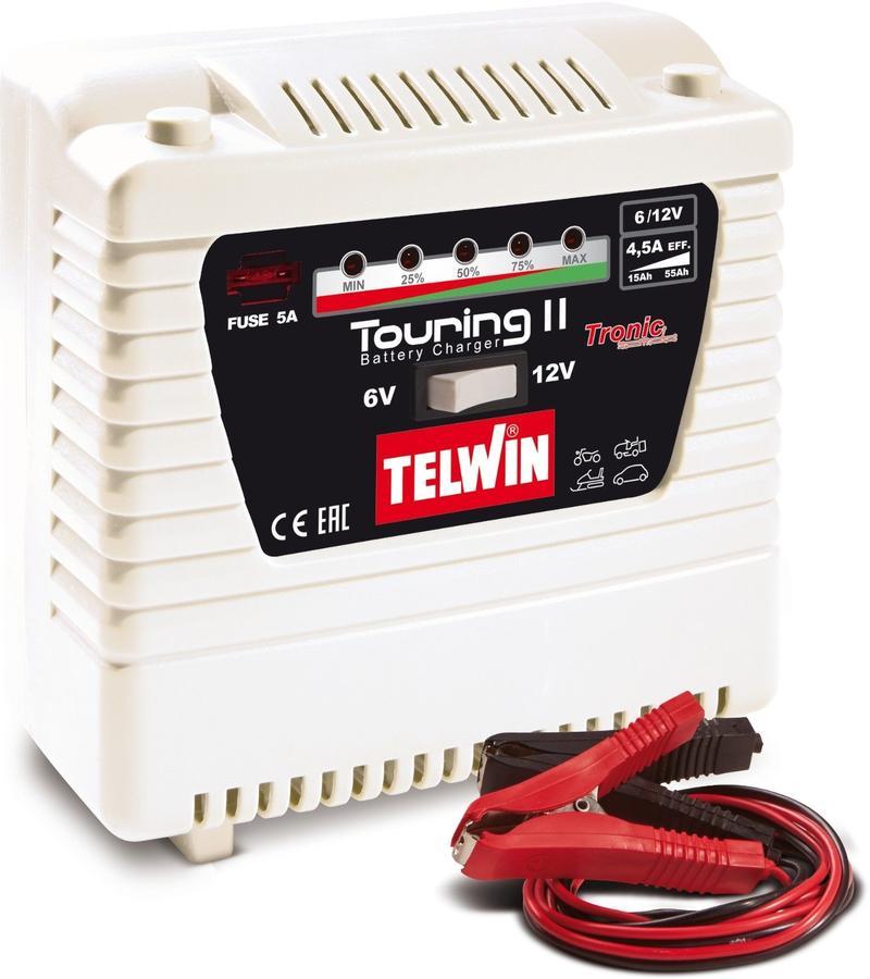 Caricabatterie monofase portatile auto moto TELWIN TOURING 15 230V 12-24V