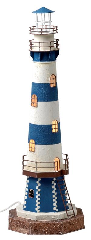 Faro Nautico con Lampada ( alto 58.5 cm. ) di Artesania Esteban - Mondo Nautica 24