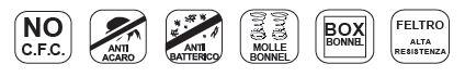 Materasso a Molle Bonnell Mod. Export Matrimoniale da Cm 160x190/195/200 Fodera Damascata Altezza Cm. 20 - Ergorelax