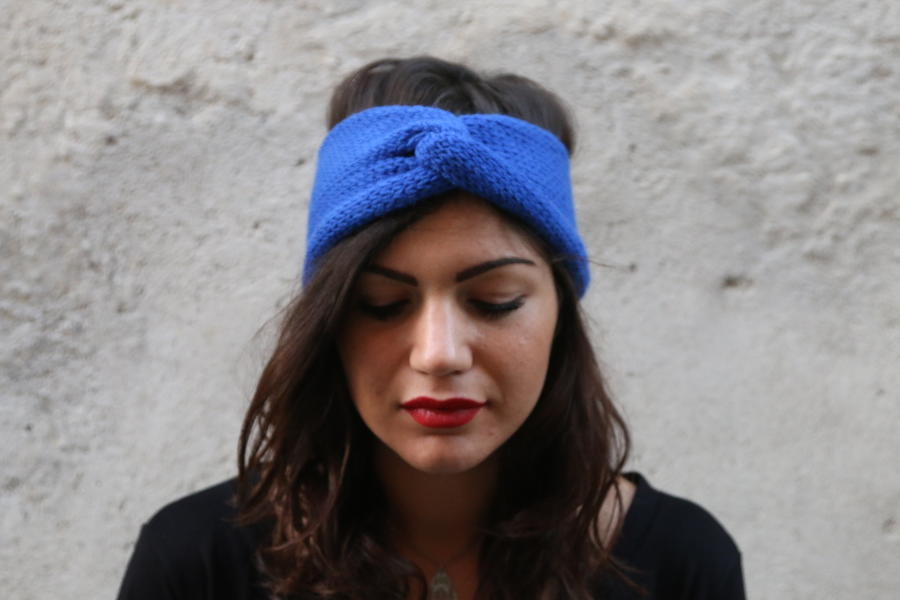 ELECTRIC BLUE HANDCRAFTED HEADBAND