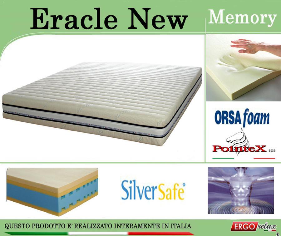 Materasso Memory Mod. Eracle New da Cm 180x190/195/200 Argento Sfoderabile Altezza Cm. 24 - ErgoRelax