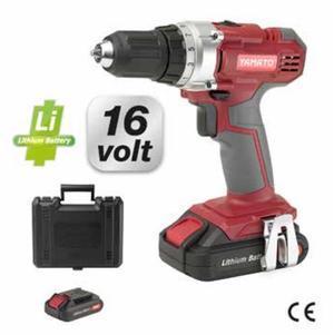"Trapano avvitatore a batteria 16v YAMATO 99361 LITIO ""CD 16L"" - 16V - 2Ah  350-1250rpm"