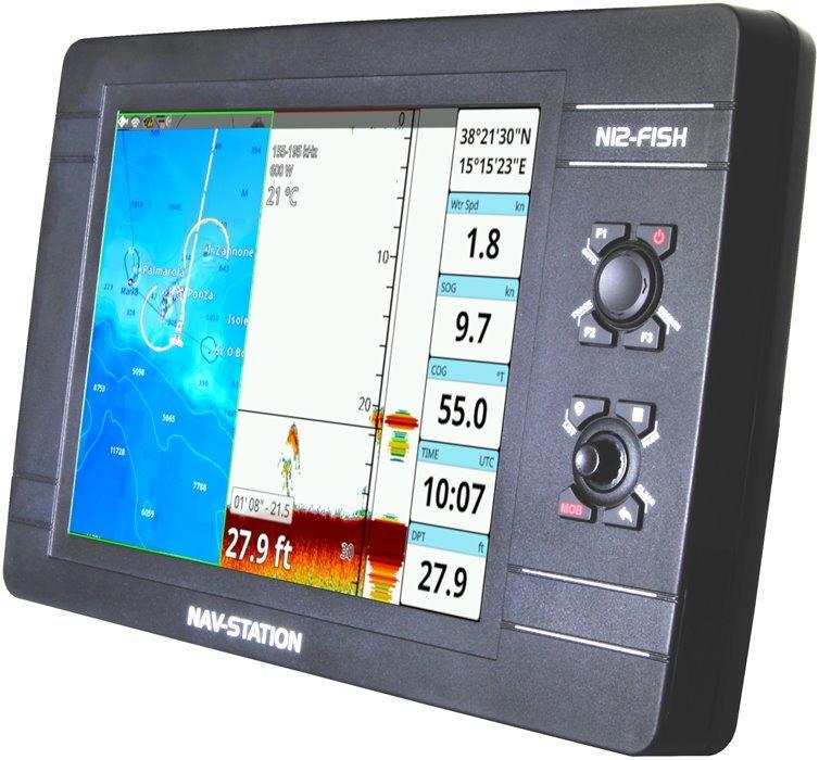 GPS nautico Nav-Station N12-Fish: tecnologia CHIRP ed app Mirror Control - Offerta di Mondo Nautica  24
