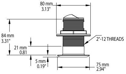 Trasduttore passante bronzo BM150 CHIRP per Nav-Station serie N - Offerta di Mondo Nautica  24